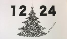 自分のイラストを添えて♪クリスマスカードを作ろう★無料体験授業!要予約
