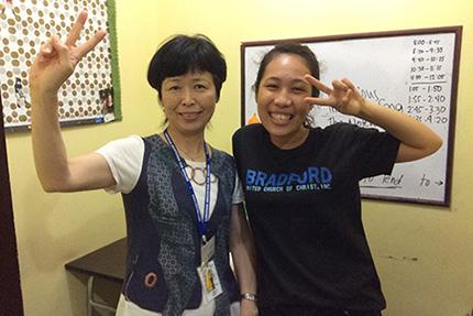 正木あさ子さんの留学中の写真1